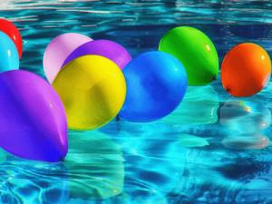 Badebursdag - ballonger